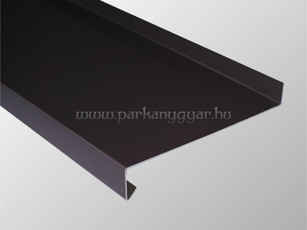 110mm széles barna hajlított alumínium párkány RAL8019