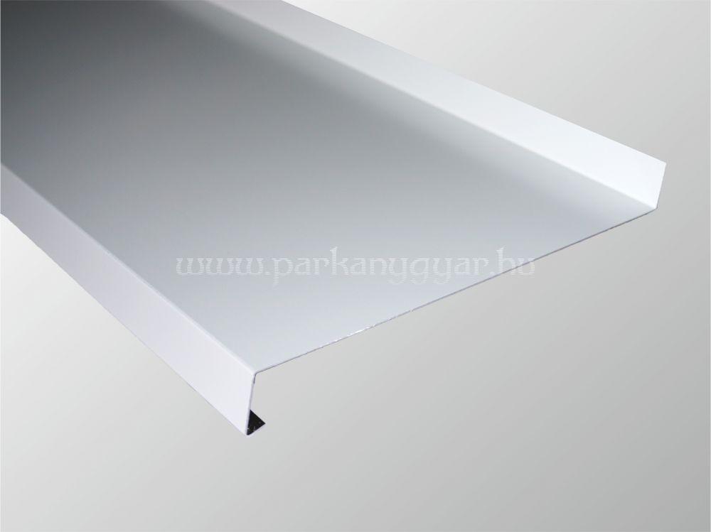 195 mm széles fehér hajlított alumínium párkány