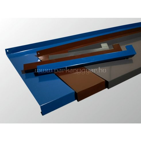 050- 400 mm széles hajlított alumínium párkány egyedi RAL színben
