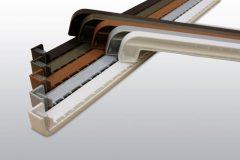 PVC végzáró alu párkányhoz Aranytölgy RAL 8003