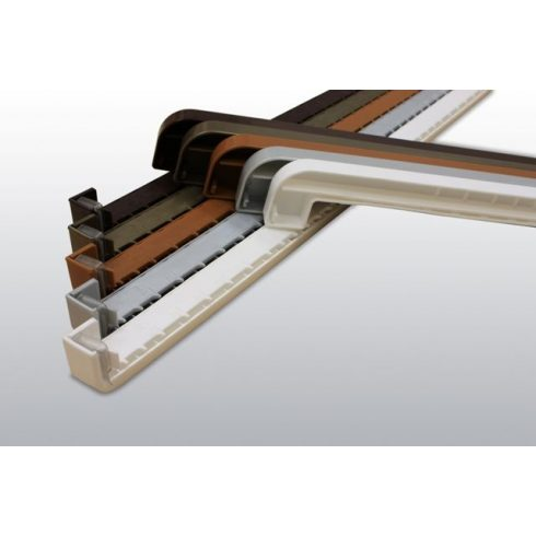 PVC végzáró alu párkányhoz Antrazit RAL 7016